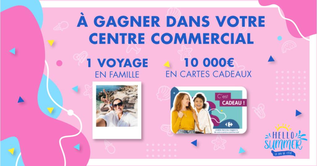 Jeu de l'été 2020 HELLO SUMMER 10000 euros de cartes cadeaux et un voyage en Famille à gagner du 25 Juin au 14 Juillet 2020