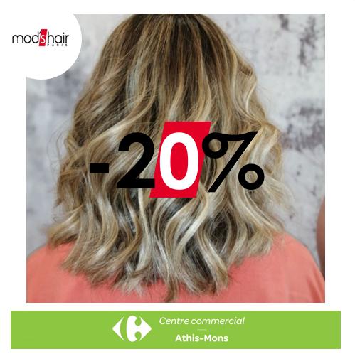 -20% chez MOD's HAIR du 4 au 22 Août 2020